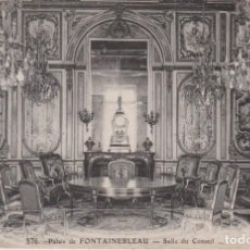 Postales: FRANCIA PALACIO DE FONTAINEBLEAU SALON DEL CONSEJO POSTAL CIRCULADA. Lote 221240365