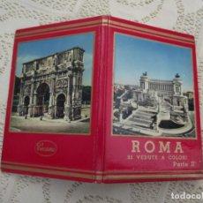 Postales: ROMA. 32 VEDUTE A COLORI. PARTE II. CECAMI - ACORDEON. DESPLEGABLE (VER FOTOS). Lote 221418523