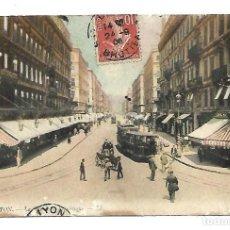 Postales: BONITA POSTAL DE LYON - LA PLAZA DE LA REPUBLICA . CIRCULADA EL 24- 9- 1.908. Lote 221707336