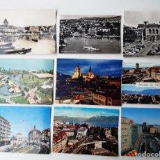 Postales: 9 POSTALES DE LAUSANNE (SUIZA) AÑOS 60. Lote 221710987