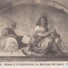Postales: ITALIA FLORENCIA PINTURA DE A. DEL SARTO POSTAL NO CIRCULADA. Lote 222049193