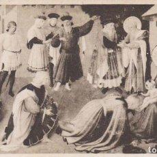 Postales: ITALIA FLORENCIA PINTURA DE BEATO ANGELICO LA ADORACION DE LOS REYES MAGOS POSTAL NO CIRCULADA. Lote 222049393