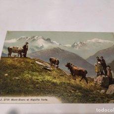 Postales: FRANCIA - POSTAL MONT-BLANC ET AIGUILLE VERTE. Lote 222053787