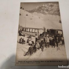 Postales: SUIZA - POSTAL TRAIN DE LUGEURS Á CRÊTE-D,Y-BAU ET LES ROCHERS DE NAYE. Lote 222054022
