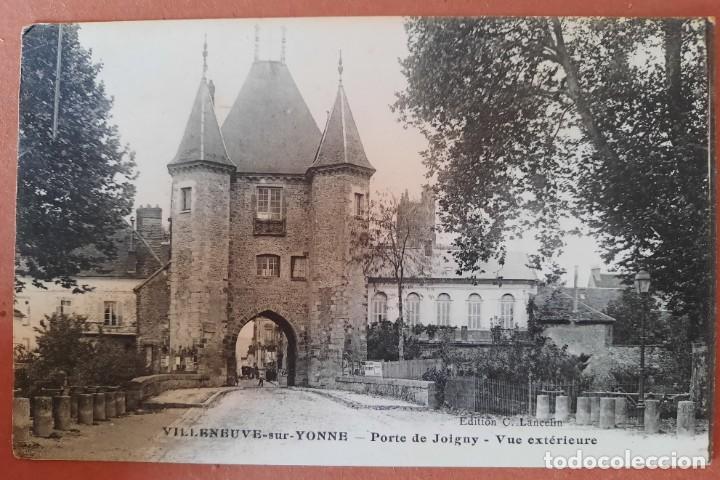 `POSTAL-AÑOS 10/20-VILLENEUVE SUR YONNE/PORTE DE JOIGNY/FRANCIA -EDITION C. LANCELIN - SIN CIRCULAR (Postales - Postales Extranjero - Europa)