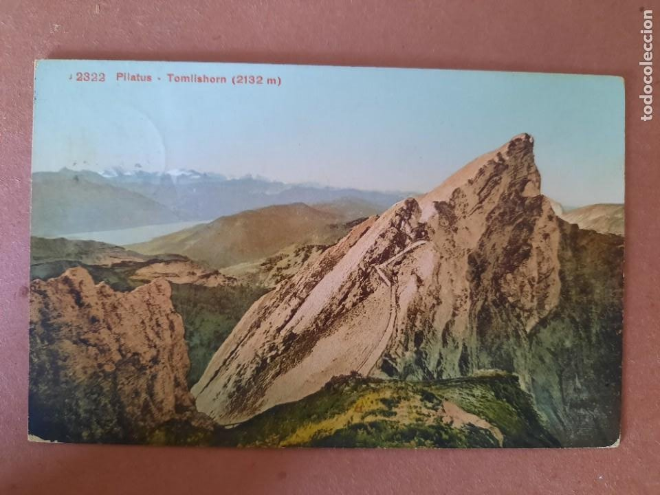 `POSTAL-AÑOS 1916-PILATUS KULM/TOMLISHORN/SUIZA-JACINTO BELLAVISTA-CIRCULADA-ED. ZÜRICH (Postales - Postales Extranjero - Europa)