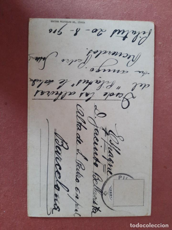 Postales: `postal-años 1916-Pilatus Kulm/Tomlishorn/Suiza-Jacinto Bellavista-circulada-Ed. Zürich - Foto 2 - 222132480