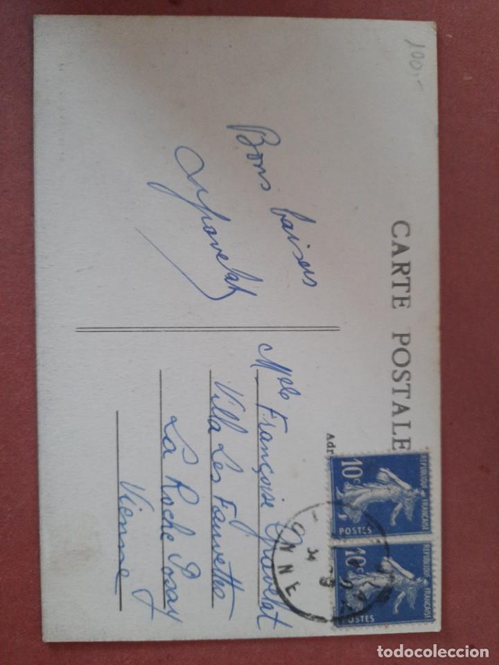Postales: postal-años 10/20-Tanlay/Le Chateau/La Roche Posay/Francia-Françoise Gravelat-circulada - Foto 2 - 222133558