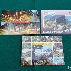 Postales: LOTE 3 POSTALES RECORD D'ANDORRA. Lote 222172267