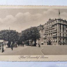 Postales: POSTAL HOTEL LUZERNERHOF, LUCERNA, SIN CIRCULAR. Lote 222351846