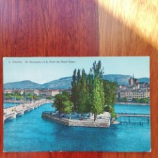 Postales: POSTAL 2.GENEVE. ILLE ROUSSEAU.. Lote 222444016