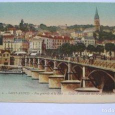Postales: POSTAL. 2. SAINT CLOUD. VUE GENERALE ET LE PONT. GENERAL VIEW AND THE BRIDGE. ED. LEVY. NO ESCRITA.. Lote 222546982