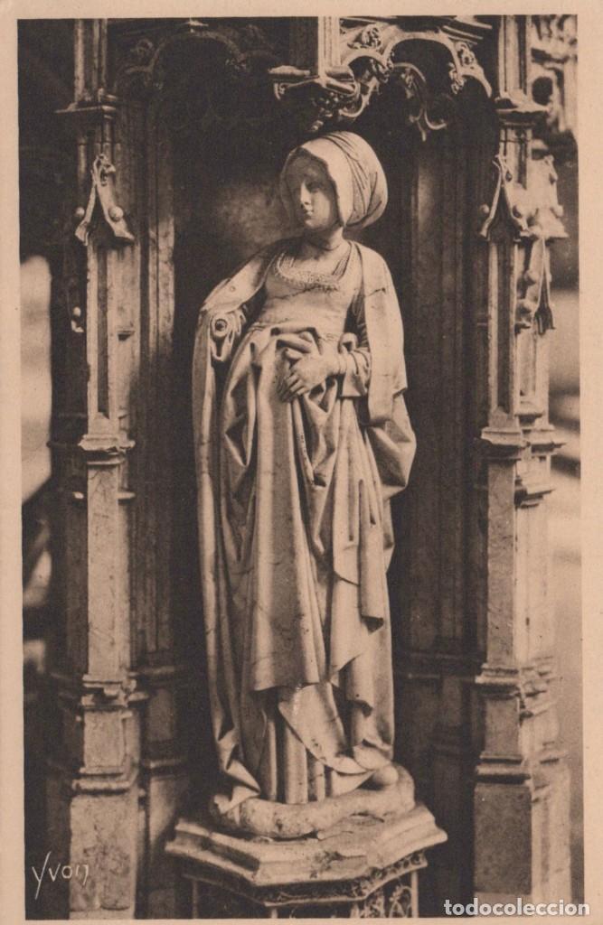 POSTAL BOURG - EGLISE DE BROU - STATUETTE DU TOMBEAU DE PHILIBERT LE BEAU - LA DOUCE FRANCE (Postales - Postales Extranjero - Europa)