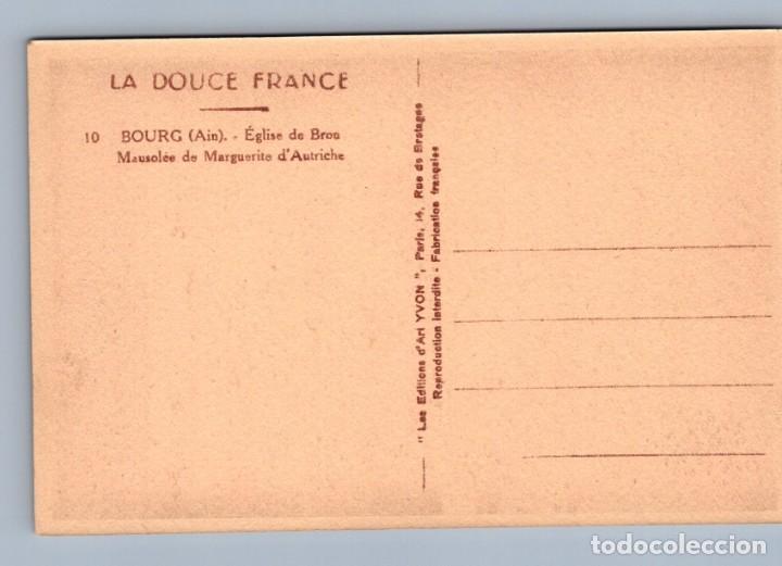 Postales: POSTAL BOURG - EGLISE DE BROU - MAUSOLEE DE MARGUERITE DAUTRICHE - LA DOUCE FRANCE - Foto 2 - 222626240