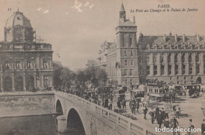 POSTAL PARIS - LE PONT AU CHANGE ET LE PALAIS DE JUSTICE - ND PHOT - CIRCULADA (Postales - Postales Extranjero - Europa)