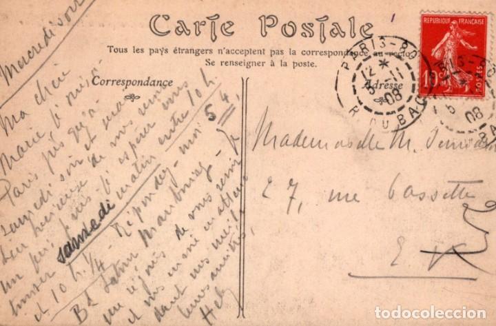 Postales: POSTAL PARIS - LE PONT AU CHANGE ET LE PALAIS DE JUSTICE - ND PHOT - CIRCULADA - Foto 2 - 222627362