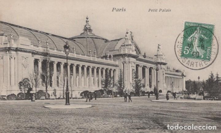 POSTAL PARIS - PETIT PALAIS - CIRCULADA (Postales - Postales Extranjero - Europa)