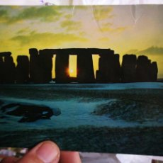 Postales: POSTAL STONEHENGE WILTSHIRE WINTER SUNSET ARRUGADA. Lote 222809613