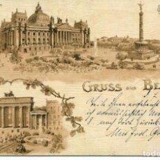 Cartes Postales: GRUSS AUS BERLIN- AÑO 1899. Lote 224560835
