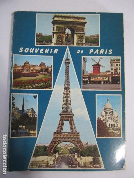 ACORDEON 14 POSTALES SOUVENIR DE PARIS LYNA (Postales - Postales Extranjero - Europa)