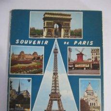 Postales: ACORDEON 14 POSTALES SOUVENIR DE PARIS LYNA. Lote 224701118