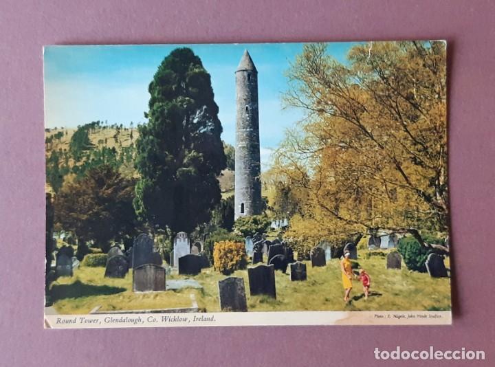 POSTAL 2/227 JOHN HINDE. ROUND TOWER. GLENDAROUGH. WICKLOW. IRLANDA. ESCRITA SIN CIRCULAR. (Postales - Postales Extranjero - Europa)