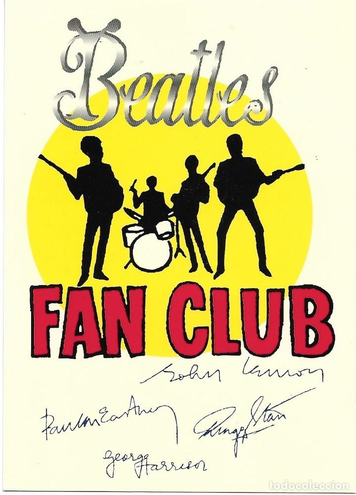 POSTAL BEATLES FAN CLUB. CIRCULADA. 1999 (Postales - Postales Extranjero - Europa)