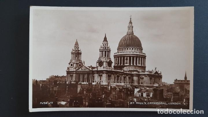 Postales: POSTAL ANTIGUA ST PAUL CATHEDRAL ED VALENTINE`S LONDRES LONDON REINO UNIDO UK - Foto 1 - 226119720