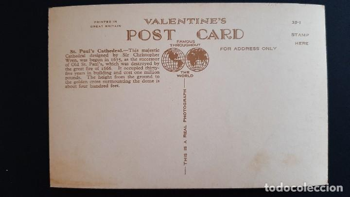 Postales: POSTAL ANTIGUA ST PAUL CATHEDRAL ED VALENTINE`S LONDRES LONDON REINO UNIDO UK - Foto 2 - 226119720