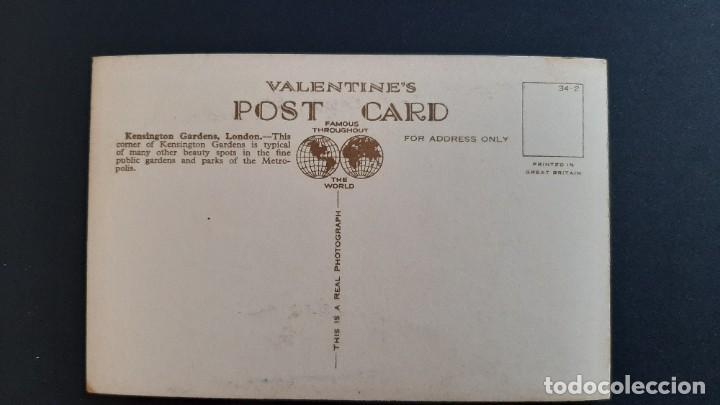 Postales: POSTAL ANTIGUA KENSINGTON GARDENS ED VALENTINE`S LONDRES LONDON REINO UNIDO UK - Foto 2 - 226120375