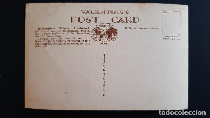 Postales: POSTAL ANTIGUA BUCKINGHAM PALACE ED VALENTINE`S LONDRES LONDON REINO UNIDO UK - Foto 2 - 226121325
