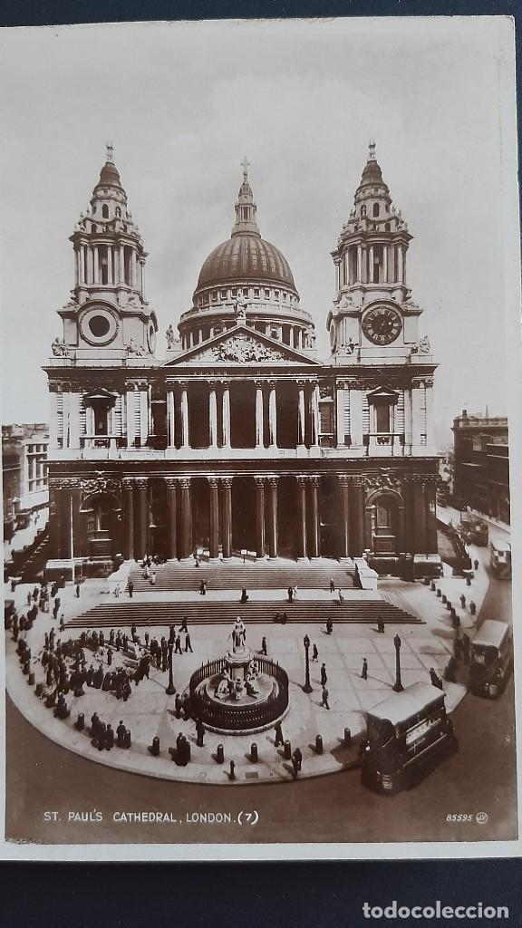 POSTAL ANTIGUA ST PAUL CATHEDRAL ED VALENTINE`S LONDRES LONDON REINO UNIDO UK (Postales - Postales Extranjero - Europa)