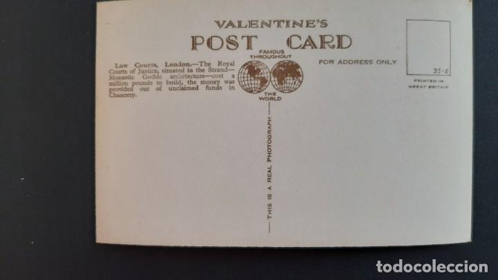 Postales: POSTAL ANTIGUA LAW COURTS FLEET STREET ED VALENTINE`S LONDRES LONDON REINO UNIDO UK - Foto 2 - 226121830