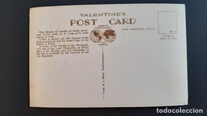 Postales: POSTAL ANTIGUA HOUSE OF LORDS ED VALENTINE`S LONDRES LONDON REINO UNIDO UK - Foto 2 - 226122322