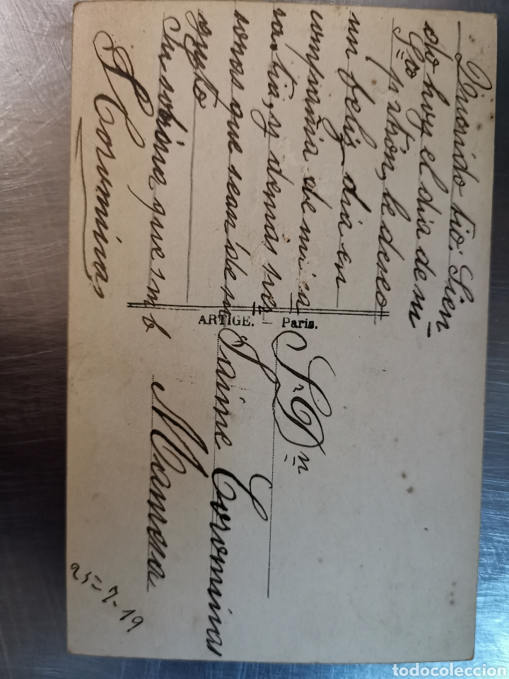 Postales: Postal de París nº274 Jardí des plantes y Musée de Paleonthologie. Sallent. Comellas. 1910s-1920s - Foto 5 - 226124276
