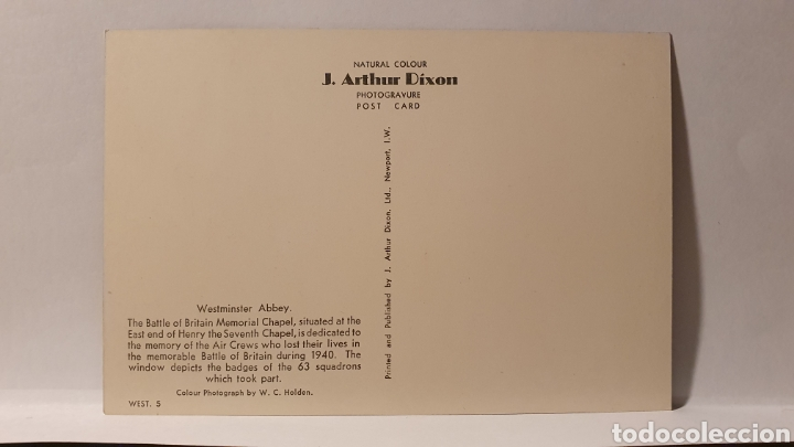 Postales: WESTMINSTER ABBEY/ SIN CIRCULAR/ (REF.D.167) - Foto 2 - 226141490