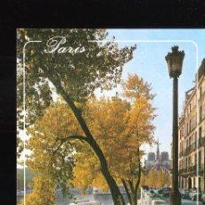 Postales: L'ILE DE SAINT LOUIS. QUAI D'ORLEANS, LA SEINE. NOTRE DAME. PARÍS. FRANCIA.. Lote 227041325