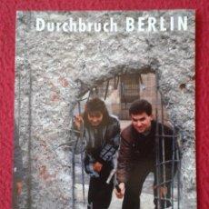 Postales: POST CARD CARTE POSTALE ALEMANIA GERMANY EL MURO THE WALL DURCHBRUCH BERLIN MAUER NACH NOV 89 LE MUR. Lote 228171150