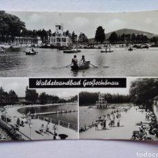 Postales: POSTAL ALEMANIA WALDSTRANDBAD GROBSCHONAU CIRCULADA. Lote 228836235