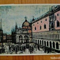 Postales: POSTAL - ITALIA - BERNARD BUFFET (PINTOR), VENISE, PIAZZETTA SAN MARCO - COLLECTION MAURICE GARNIER.. Lote 230292630
