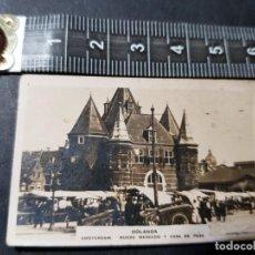 Postales: POSTAL DEL NUEVO MERCADO Y CASA DE PESO DE AMSTERDAM(HOLANDA) USADA 1916. Lote 232045620