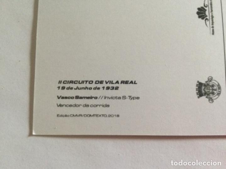 Postales: Postal II Circuito de Vila Real Portugal. 19 Junio 1932. Vencedor Vasco Sameiro. Invicta S-Type - Foto 3 - 232284460