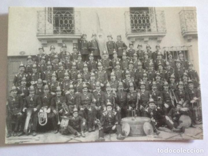 POSTAL 1901 BANDA DE MUSICA CUERPO DE BOMBEROS DE VILA REAL, CRUZ BLANCA. PORTUGAL (Postales - Postales Extranjero - Europa)