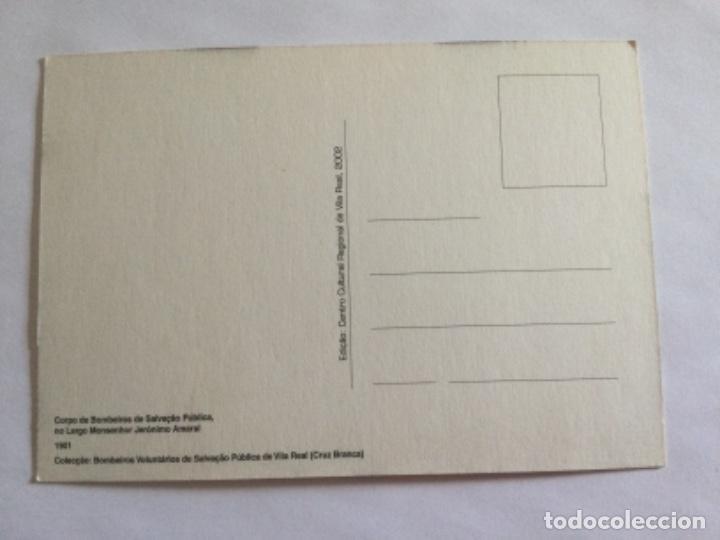 Postales: Postal 1901 Banda de Musica Cuerpo de Bomberos de Vila Real, Cruz Blanca. Portugal - Foto 2 - 232284960