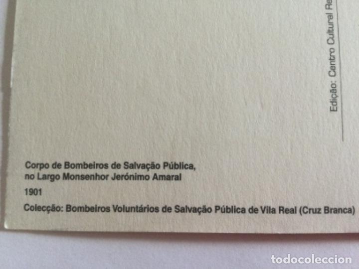 Postales: Postal 1901 Banda de Musica Cuerpo de Bomberos de Vila Real, Cruz Blanca. Portugal - Foto 3 - 232284960