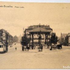 Cartes Postales: 4 VINTAGE POSTCARDS OF BRUSSELS. NUMBERED. PRINTER: SCHAERBEEK. UNUSED, LIKE NEW.. Lote 232451360