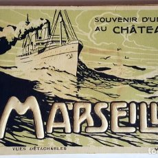 Postales: VINTAGE PACK POSTCARDS ALBUM AND GUIDE-SOUVENIR OF CHATEAU D'IF - MARSEILLE.. Lote 232498030