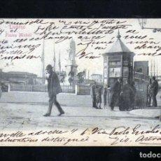 Postales: MUY ANTIGUA POSTAL DE LIVORNO (ITALIA) PLAZZA.MICHELI CIRCULADA EN 1901. Lote 233493500