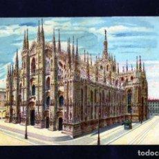 Postales: PRECIOSA Y ANTIGUA POSTAL DE MILAN (ITALIA) IL DUOMO CIRCULADA EN 1910. Lote 233493790