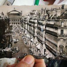 Postales: POSTAL PARIS AVENUE DE L'OPERA ESCRITA Y UNA ESQUINA RECORTADA. Lote 233988775